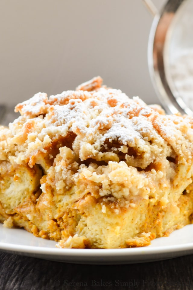 easy Pumpkin French Toast Casserole