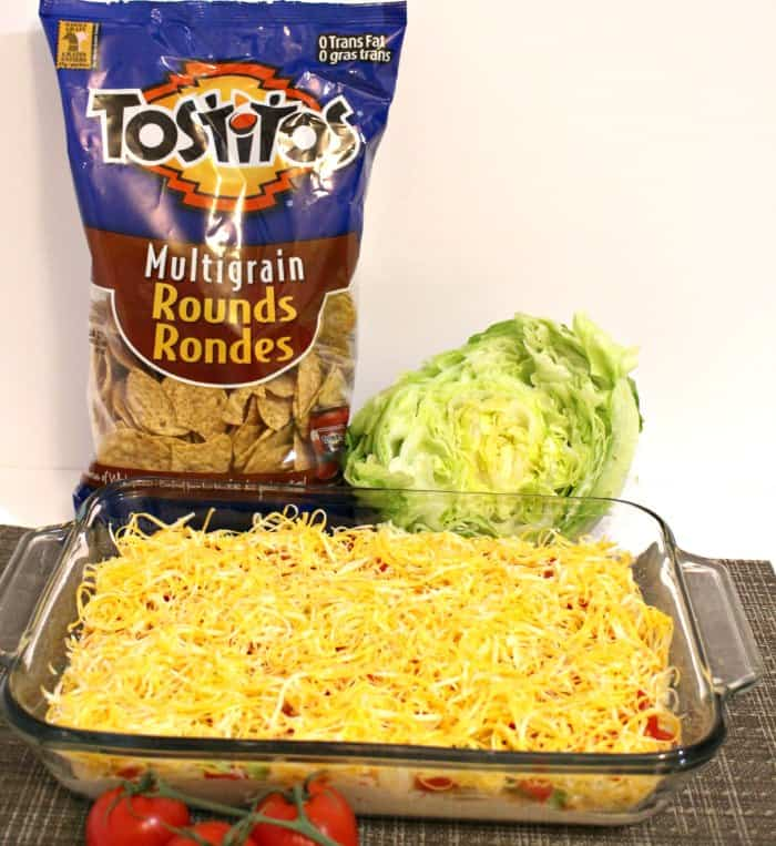 Tostitos easy Taco Dip recipe ingredients and Ready to Enjoy