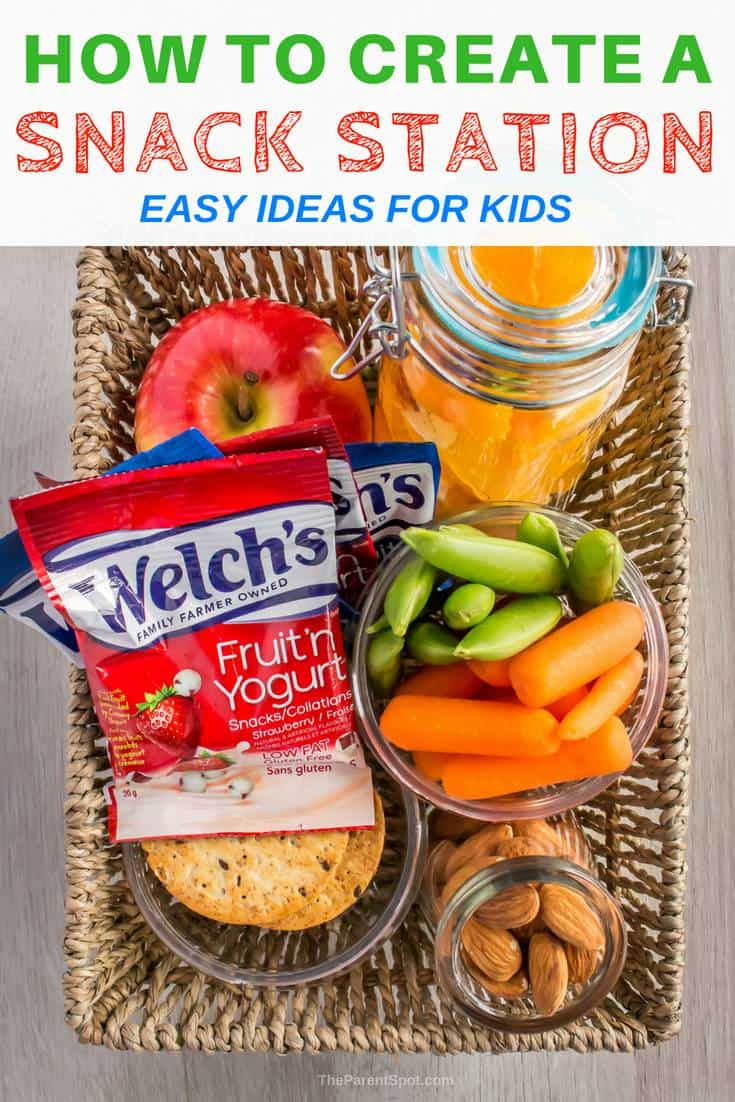 How to create an easy and tasty snack station for kids. Check out the blog post for more fantastic snack meal prep ideas!