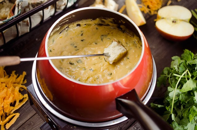 zesty cheddar fondue