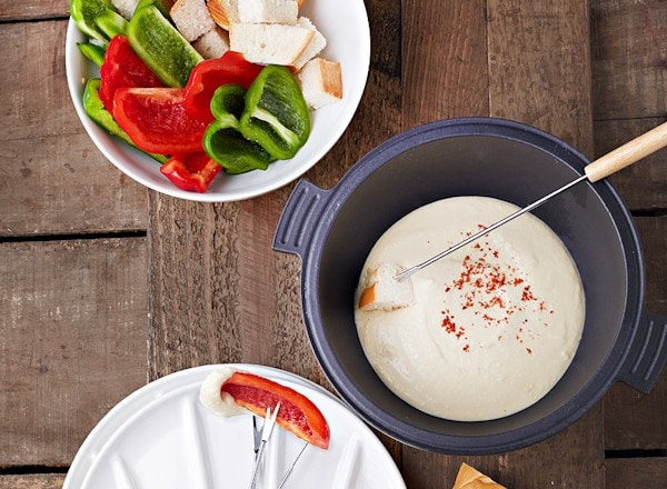 vegan northern bean fondue