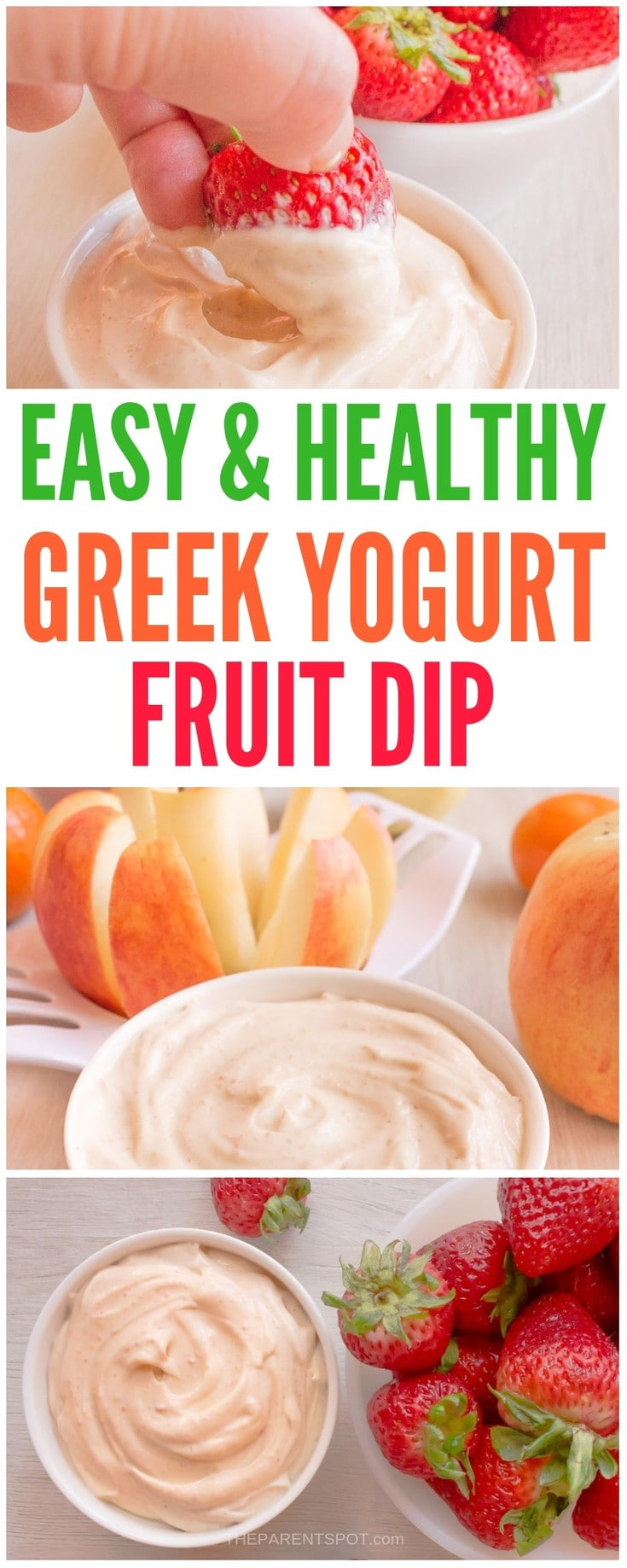 Easy and healthy Greek yogurt dip for fruit