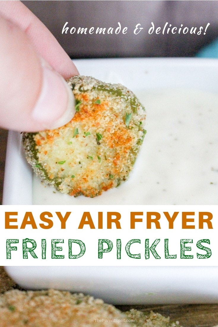 Easy and healthy air fryer pickle recipe that is low carb and simple