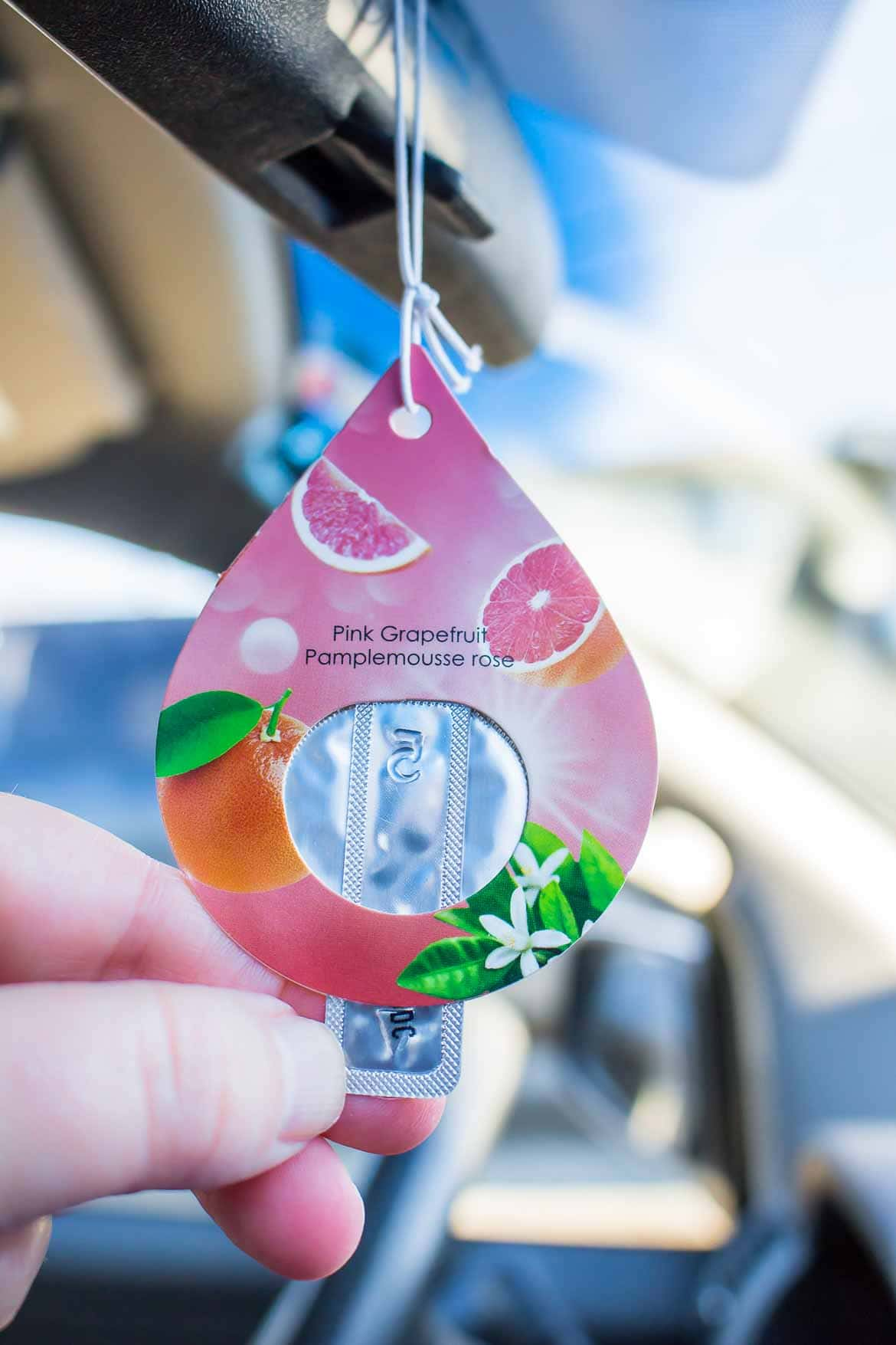 Armor All Essential Blends air fresheners activate by pulling tab