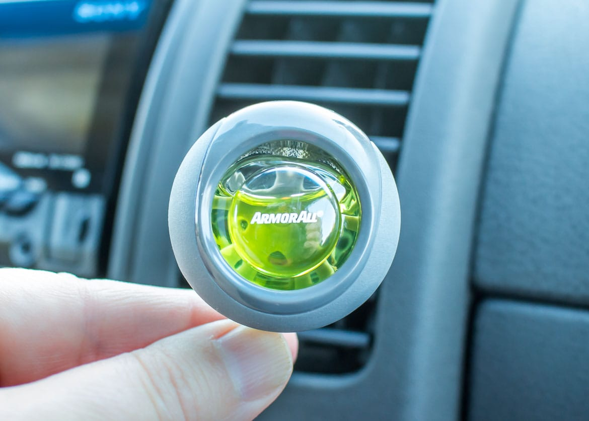 Armor All Essential Blends air fresheners in dash vent clip