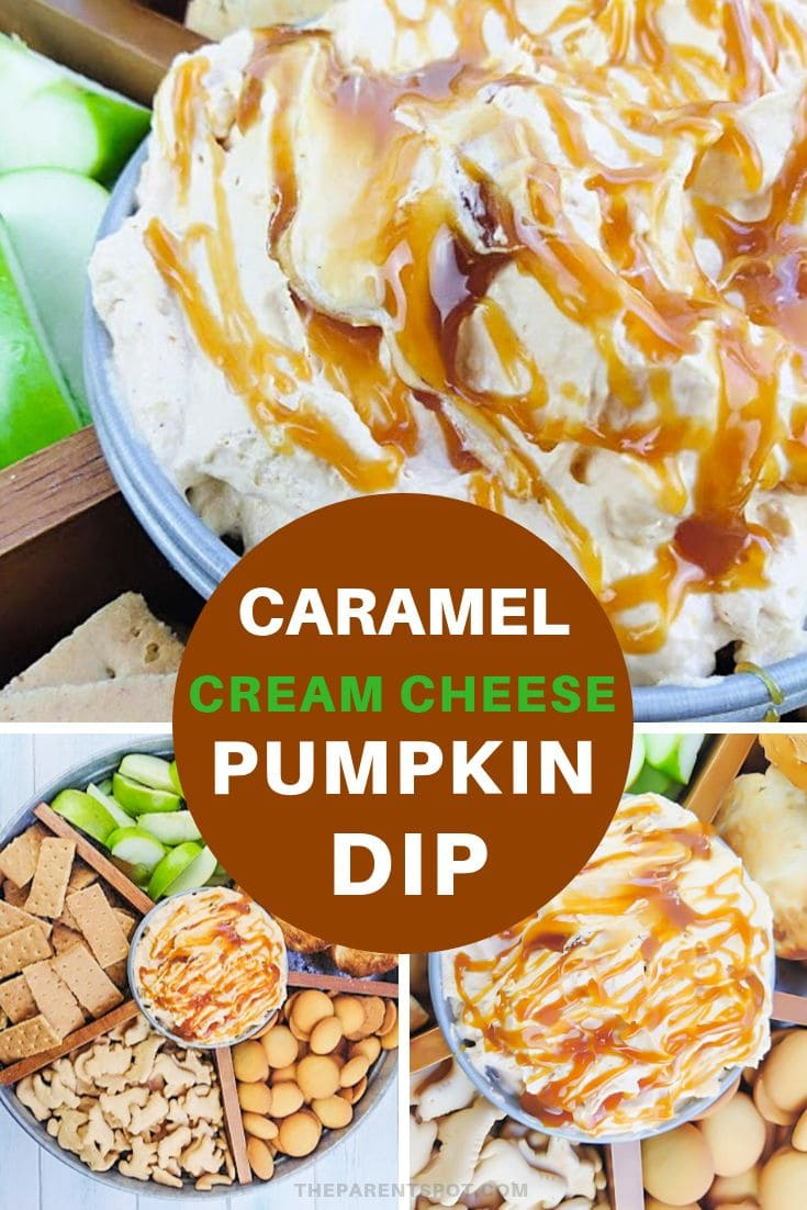 Caramel cream cheese pumpkin dip