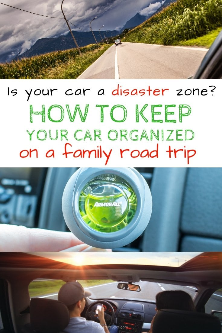 how to keep your car clean and organized on a family road trip