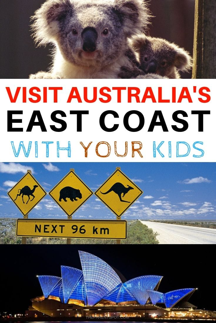 how to visit the east coast of Australia with your family