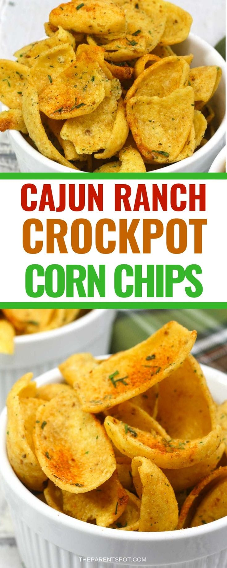 Cajun ranch crockpot corn chips