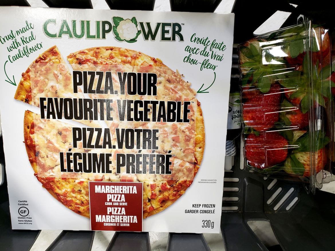 CAULIPOWER Margherita Pizza in store at Real Canadian Superstore
