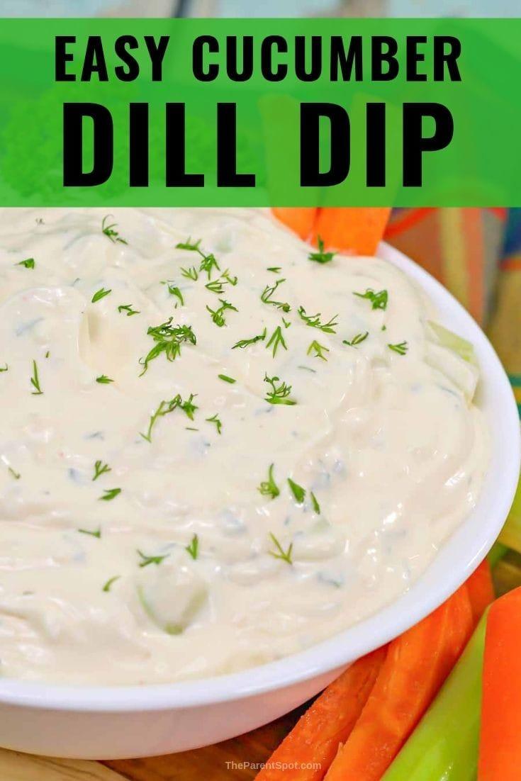 Easy cucumber dill dip recipe