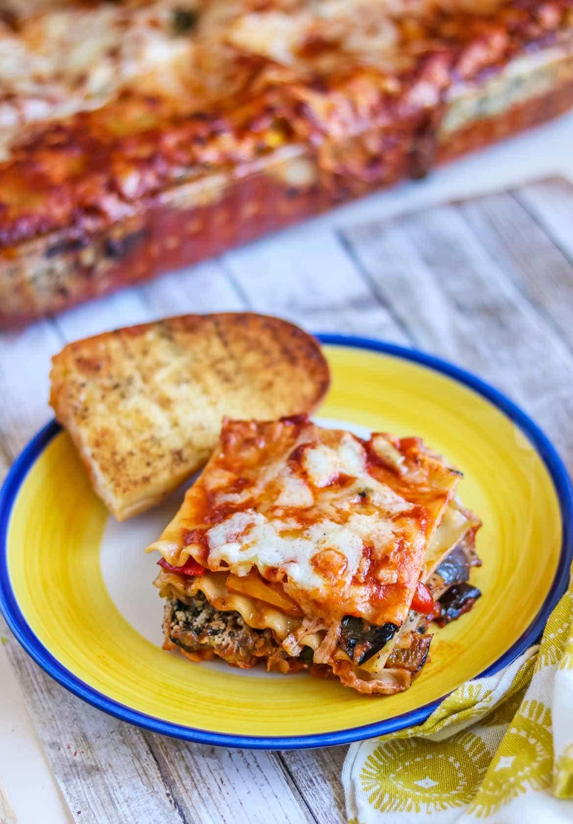 no bake lasagna noodles in cooked vegetarian lasagna