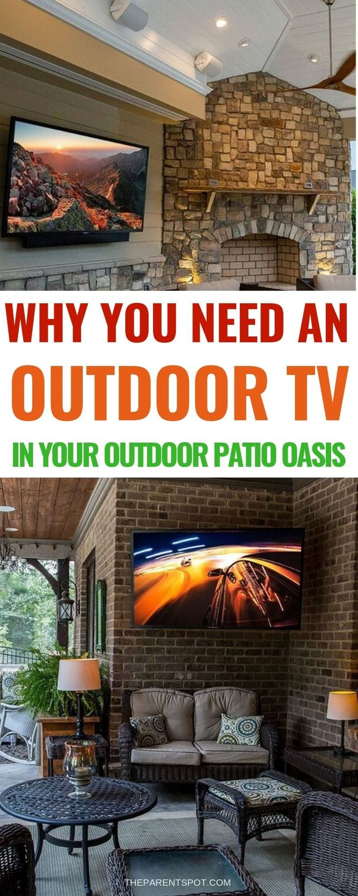Why you need an outdoor TV area on your patio deck oasis