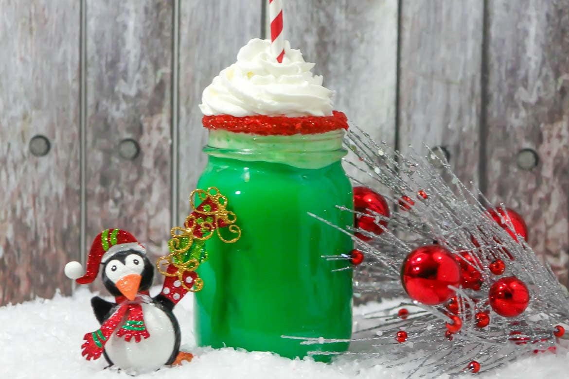 Grinch hot chocolate green hot chocolate drink