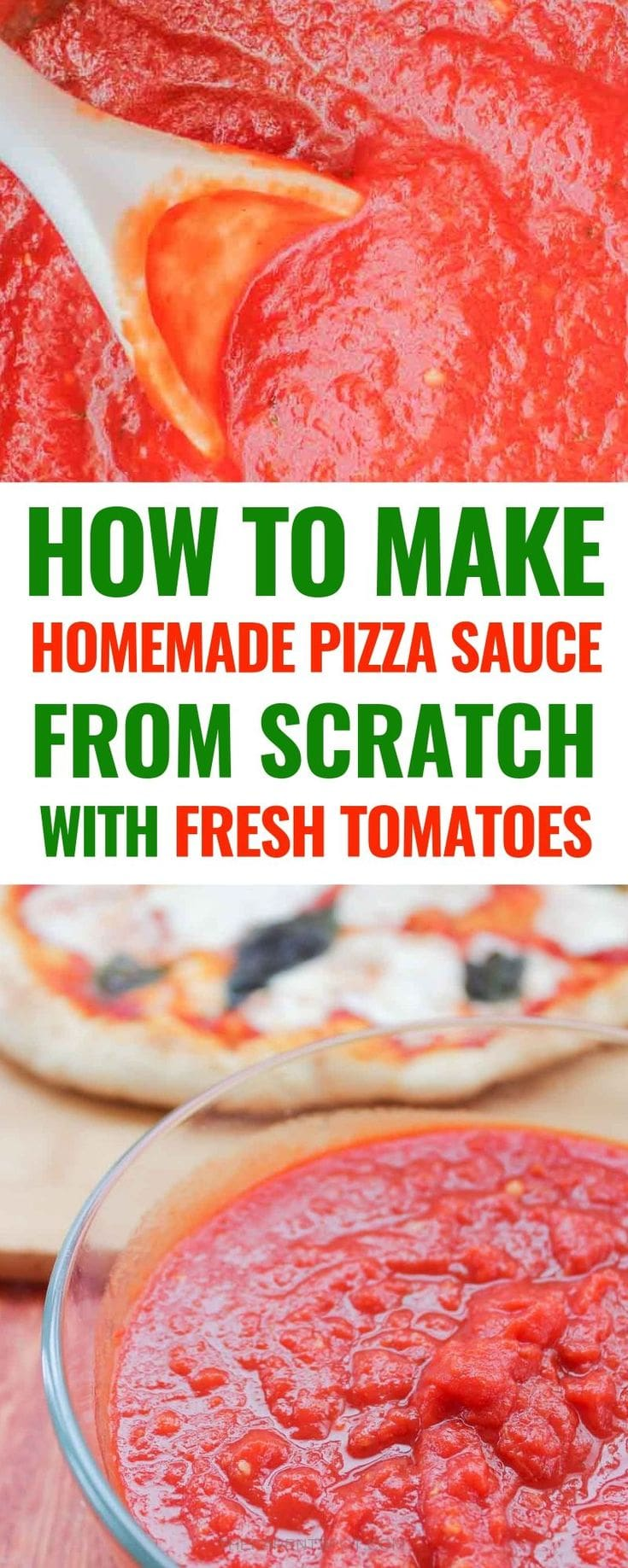 make homemade pizza sauce from scratch with fresh tomatoes