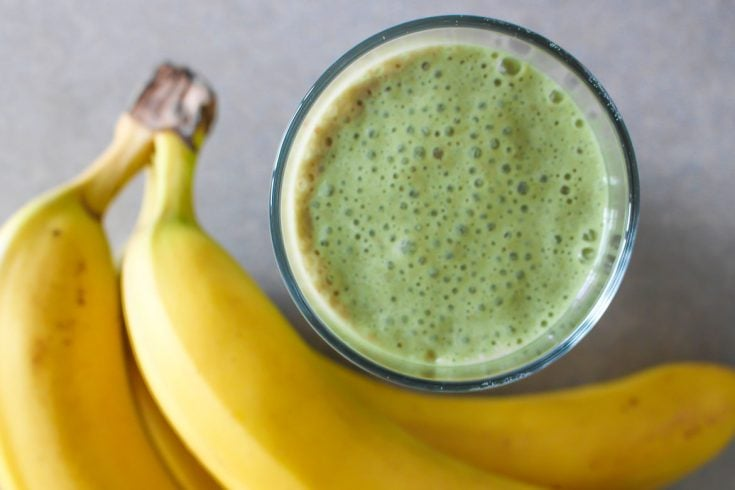 Matcha Almond Milk Smoothie with Banana
