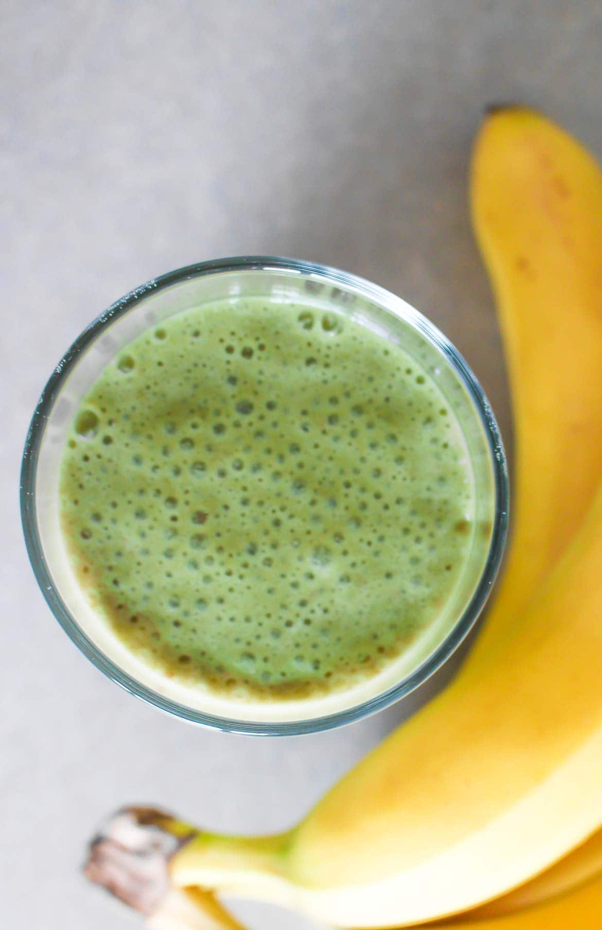 matcha banana almond milk smoothie