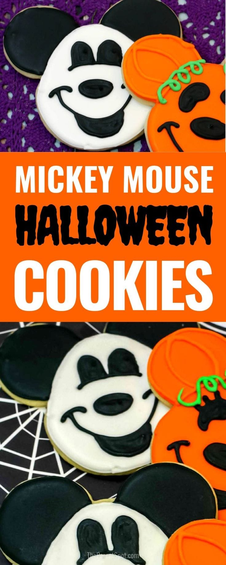 Mickey Mouse Halloween sugar cookies