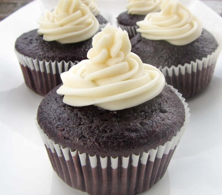 One Bowl Moist Chocolate Cupcakes