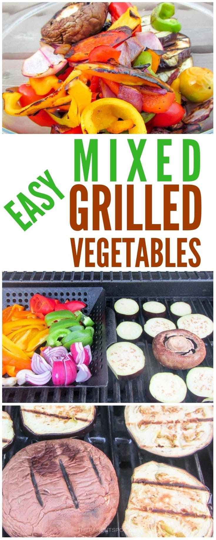 These easy mixed grilled vegetables are made in a basket on the BBQ, and have an amazing flavor and burst of color