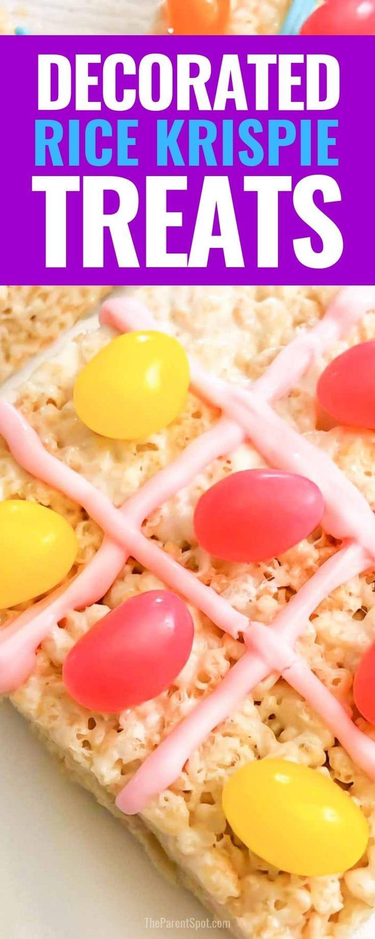decorated Rice Krispie treats tic tac toe recipe
