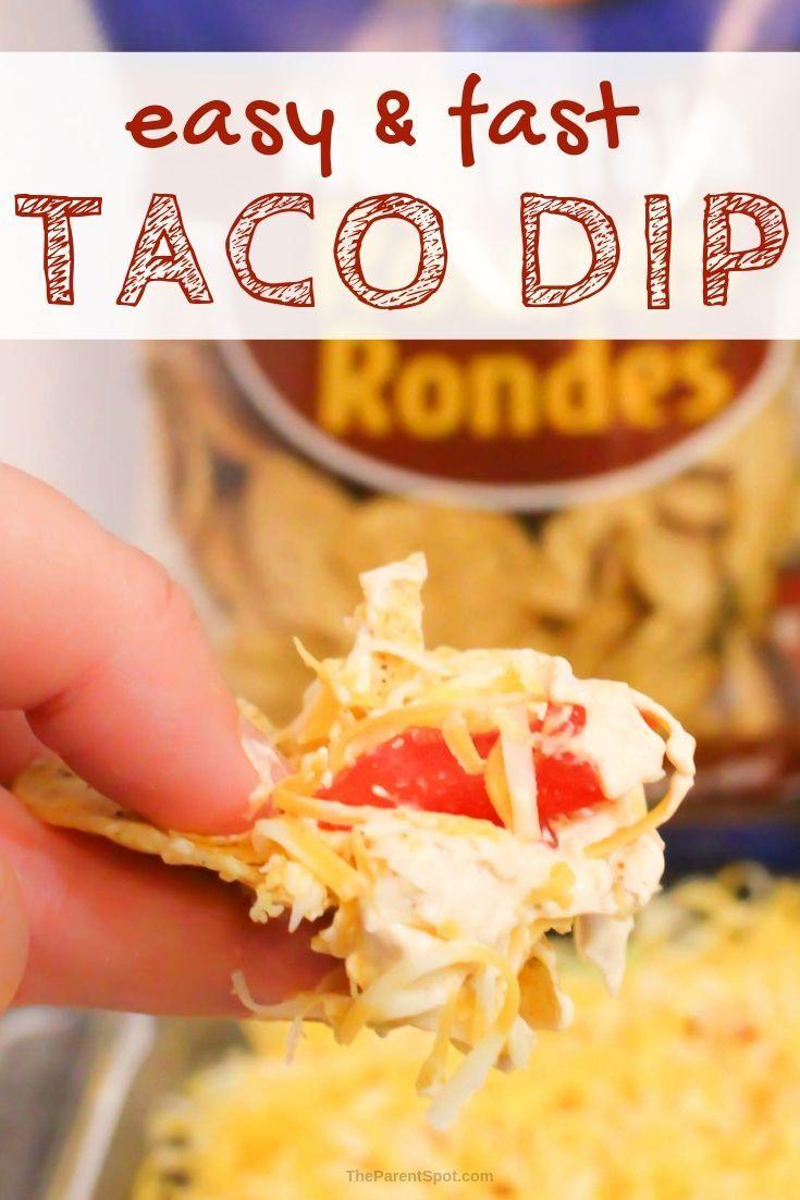 easy cold taco dip