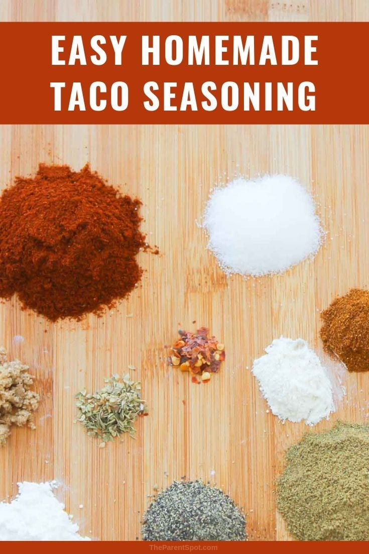 taco seasoning mix that is healthy and can be made mild no salt or organic