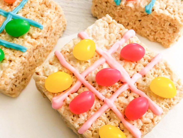 Jelly Bean Rice Krispie Treats Tic Tac Toe Game