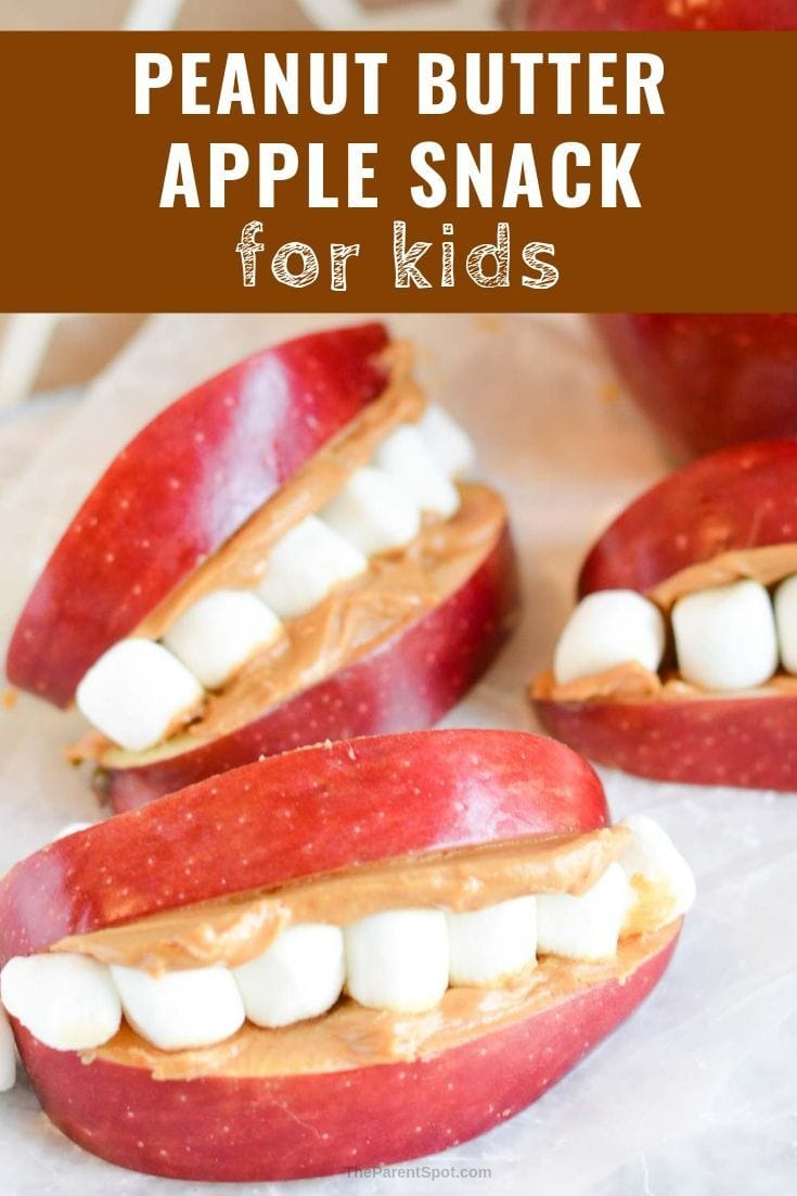 peanut butter apple snack for kids