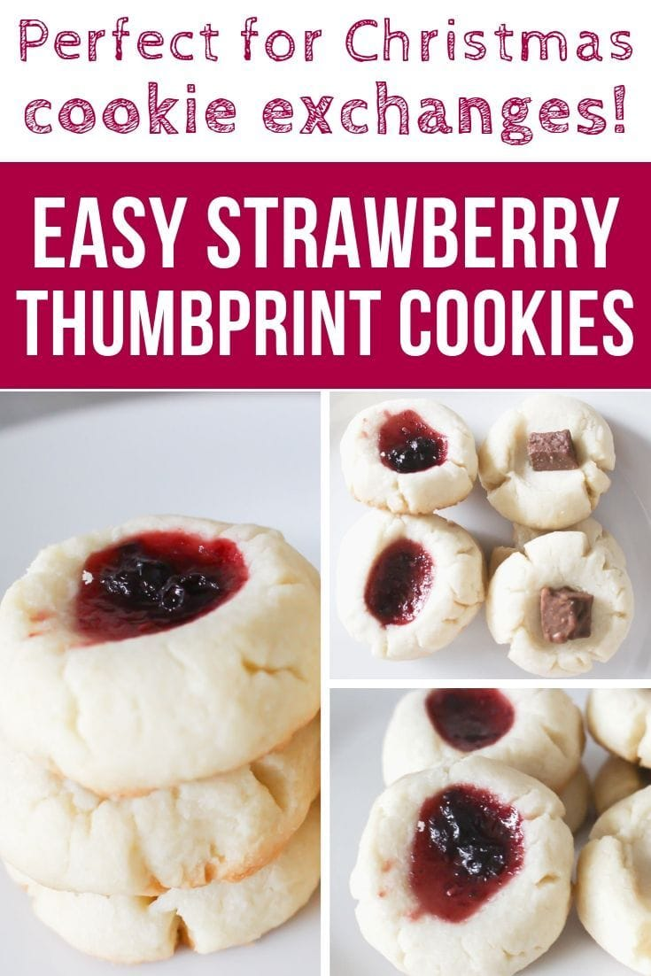 These strawberry thumbprint cookies are the perfect Christmas recipe