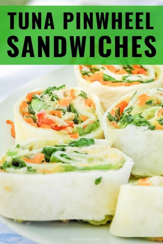 tuna pinwheel sandwiches