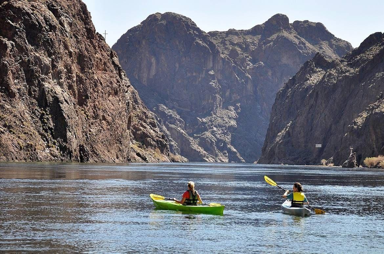 kayaking on Lake Mead