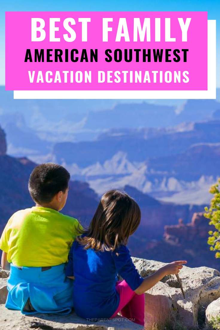 young kids at the Grand Canyon one of the best family vacation destinations in the Southwest