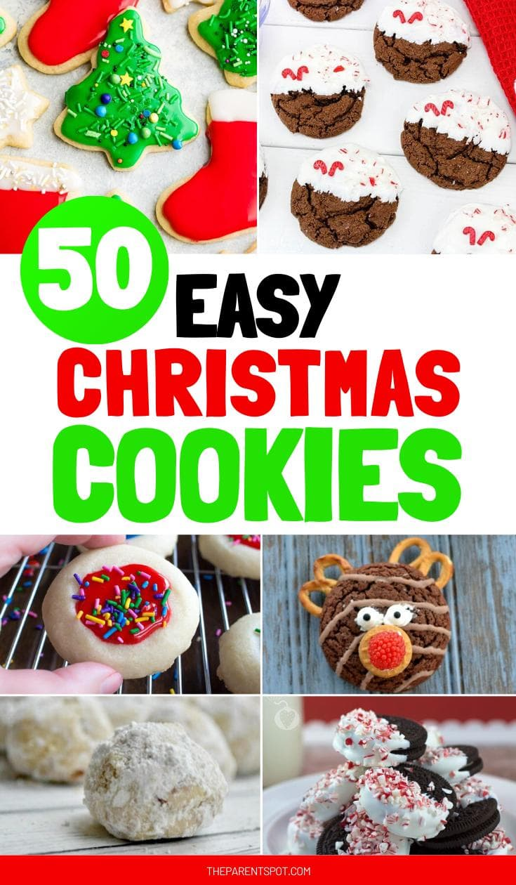 50 easy Christmas cookie recipes that are perfect for gift ideas or holiday cookie exchanges