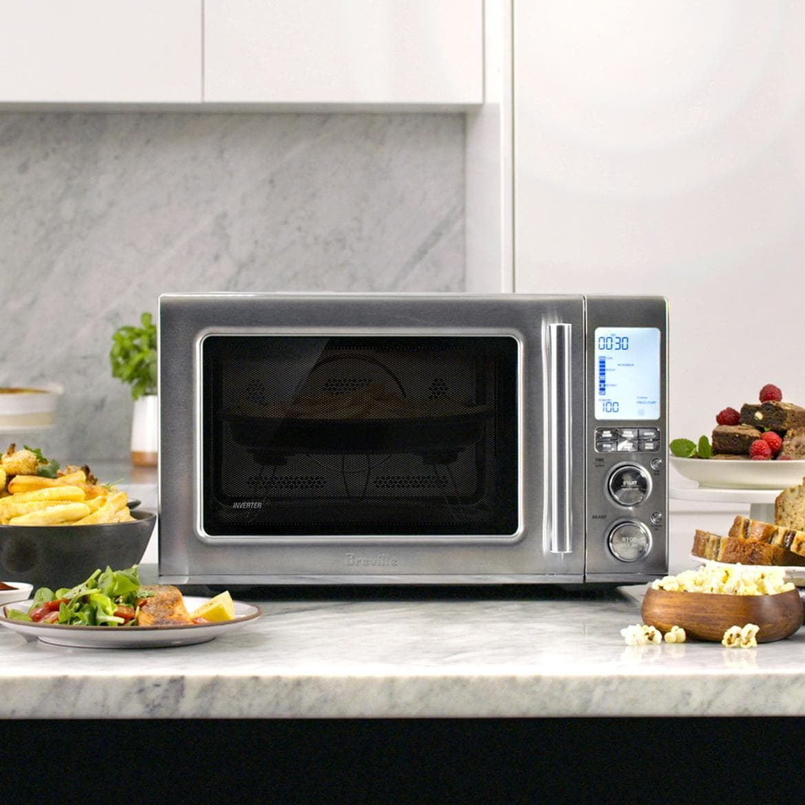 The Breville Combi Wave microwave air fryer combo saves counter space