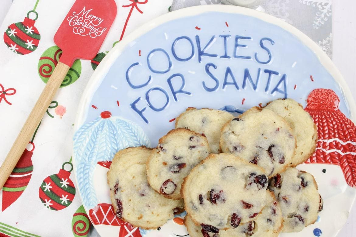 Cranberry Sugar Cookies for Santa by HodgePodge Hippie.