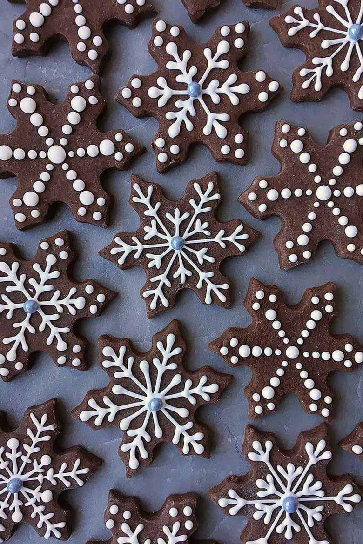 Brownie roll-out Snowflake Cookies by Foodal.