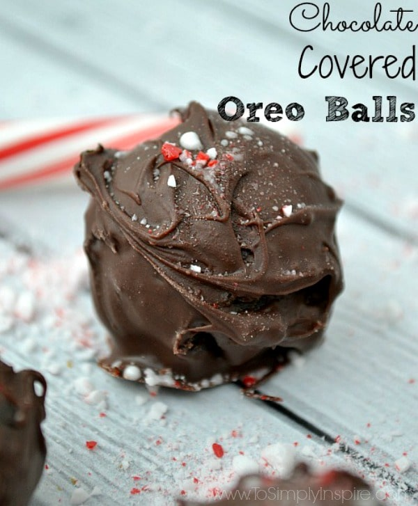 Chocolate Covered Oreo Balls by To Simply Inspire.