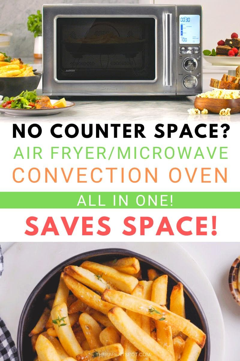 Short on counter space This air fryer, microwave, convection oven in one saves room on your kitchen counter