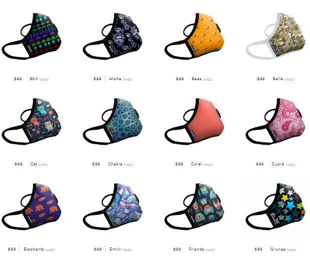 Vogmask patterns and colors