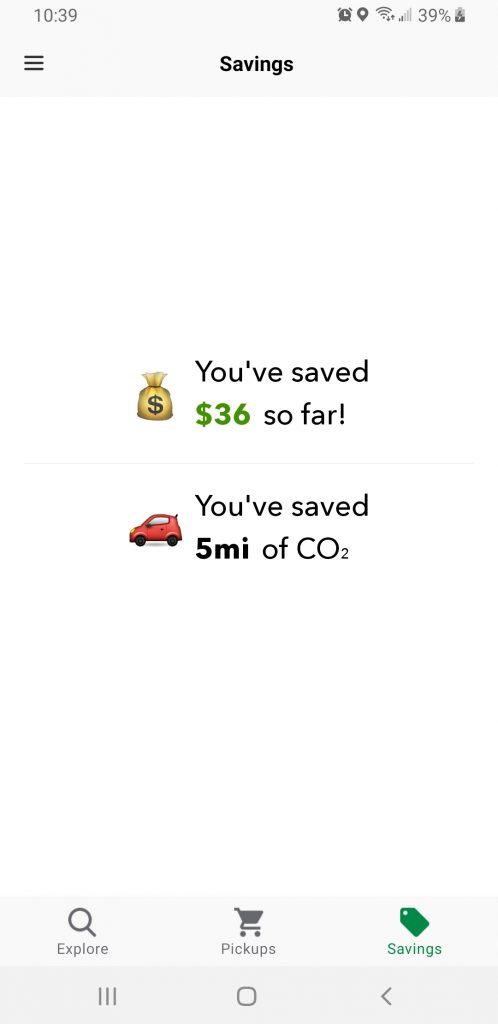 Flashfood savings in two small trips