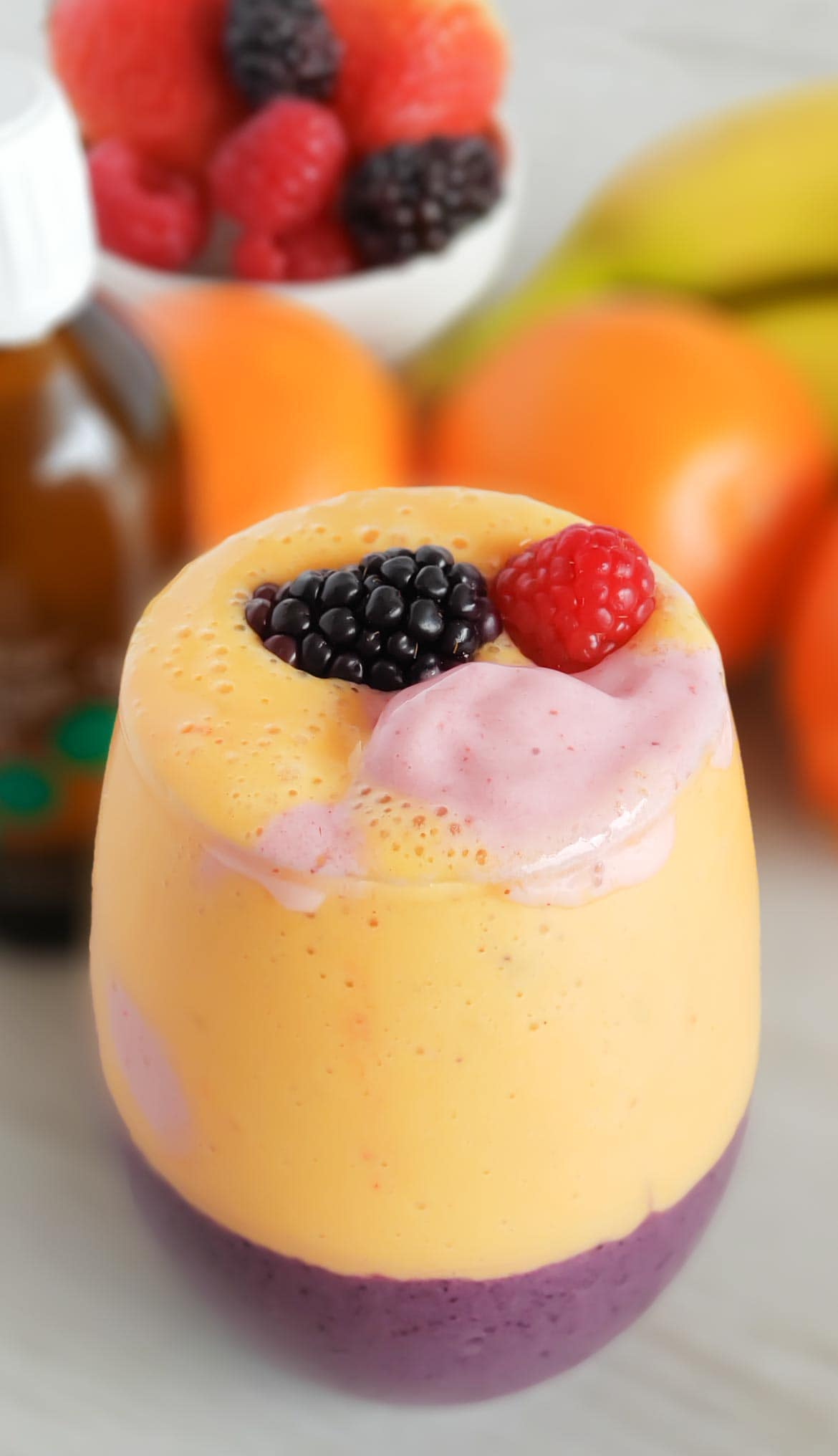 Mango Blueberry smoothie