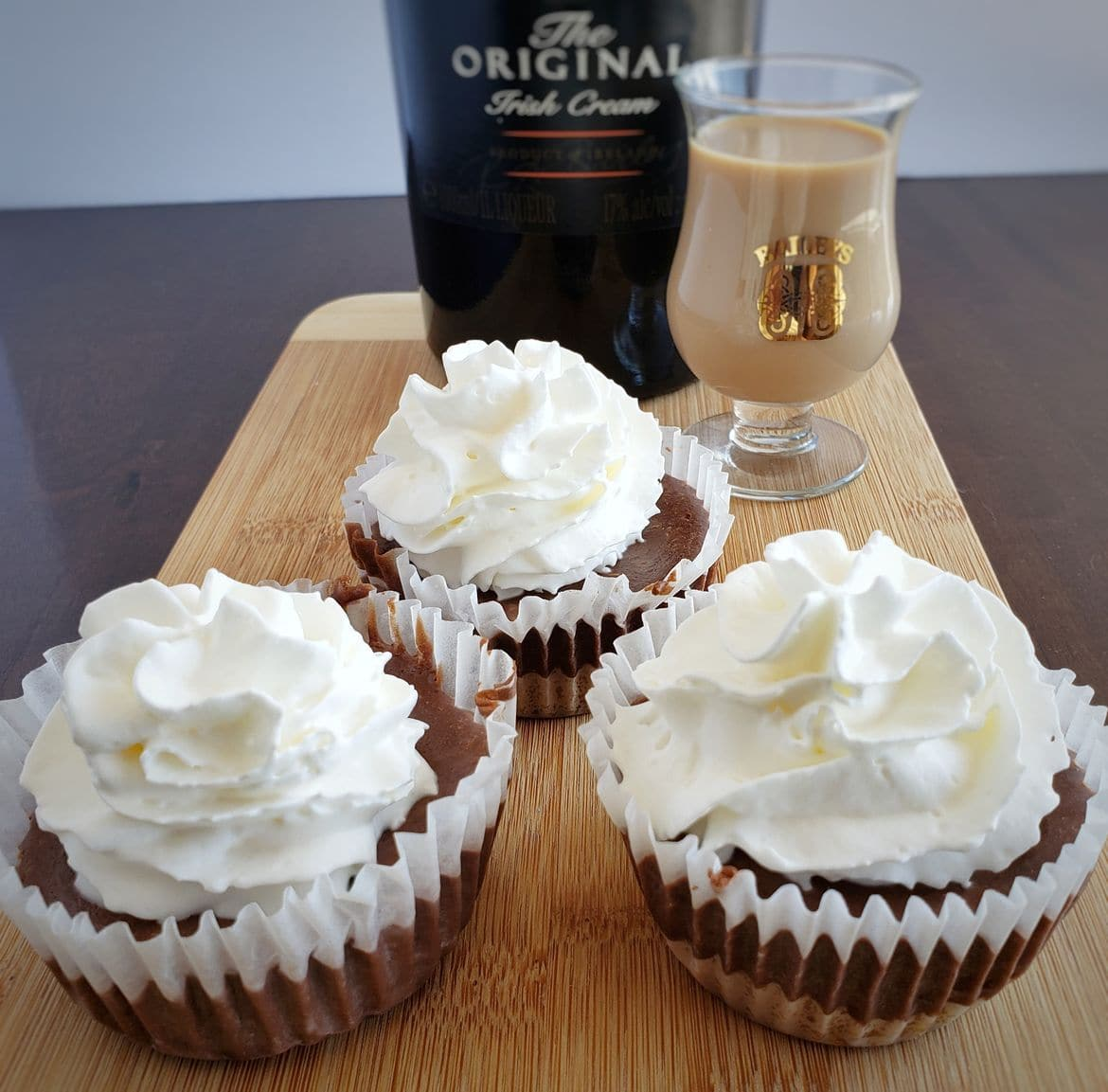 Baileys Chocolate Mini Cheesecakes