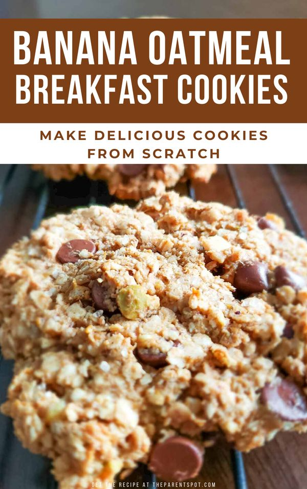 Banana oatmeal breakfast cookie recipe