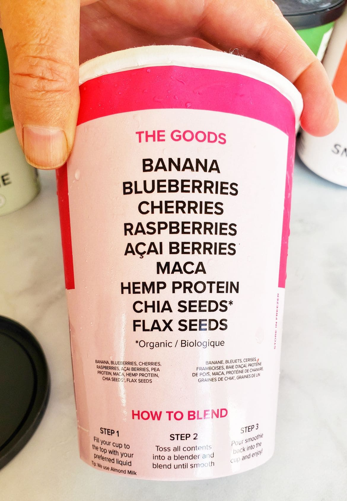 acai twist revive smoothie ingredient list
