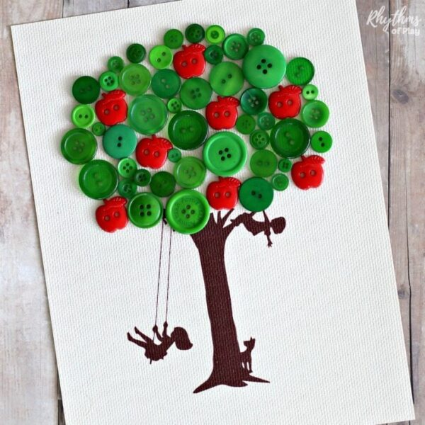 Button Felt Apple Pie Craft