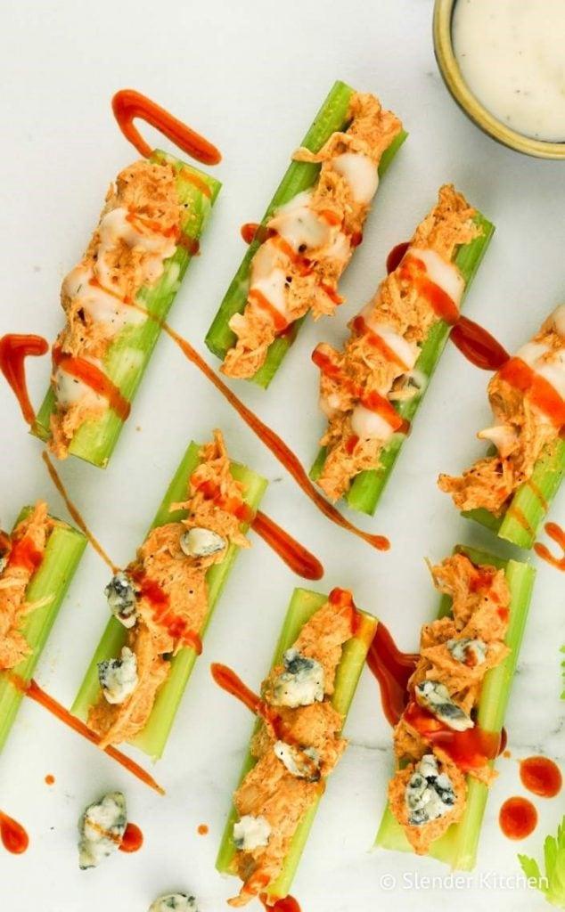 Buffalo Chicken Celery Bites from Slender Kitchen