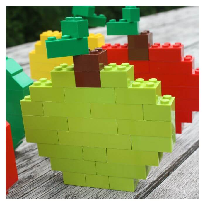 Lego apple craft