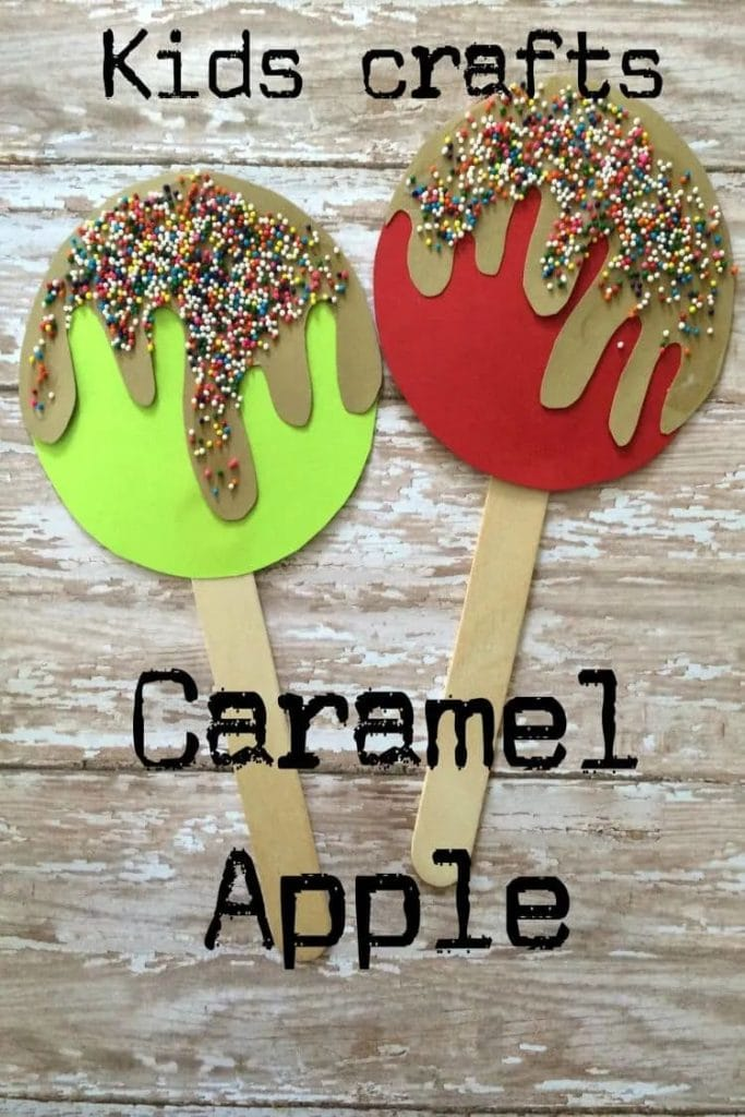Caramel Apple Popsicle Stick Craft from The Classy Chapter