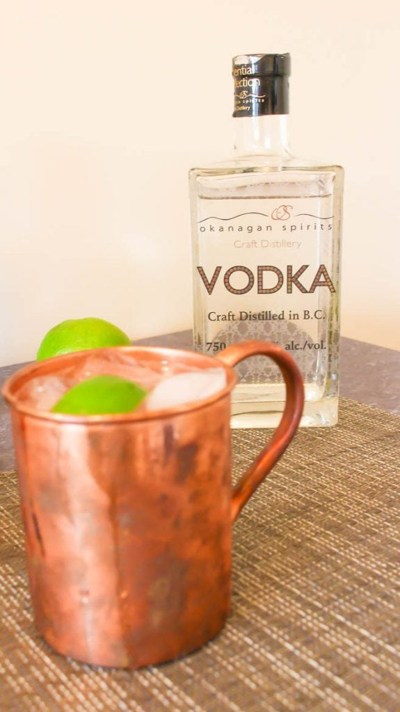 Moscow Mule made with vodka